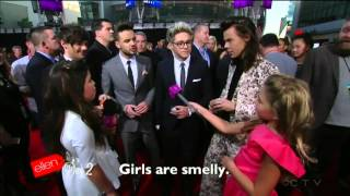 One direction - entire interview 2015 (2015 American Music Awards red carpet) - Ellen TV show