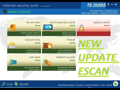 Escan  anti virus and internet security new version update fast 100 working