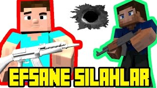Minecraft Efsane Silahlar Modu  [Extraordinary Weapons Mod Minecraft 1.10.2 ]