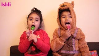Pre School Toddler Rufi Ishfi's Learning Video with Nursery Rhymes and Lollipop