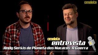 Andy Serkis de Planeta dos Macacos: A Guerra | Omelete Entrevista