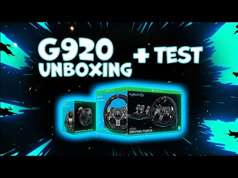 Logitech G920 Unboxing And Test
