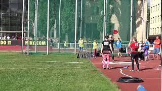 Алена Бугакова летний Чемпионат Москвы 2018 толкание ядра
