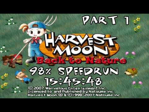 [WR] Harvest Moon: Back to Nature 98% speedrun in 15:45:48 (Part 1)