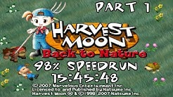 Harvest Moon: Back to Nature 98% speedrun in 15:45:48 (Part 1)