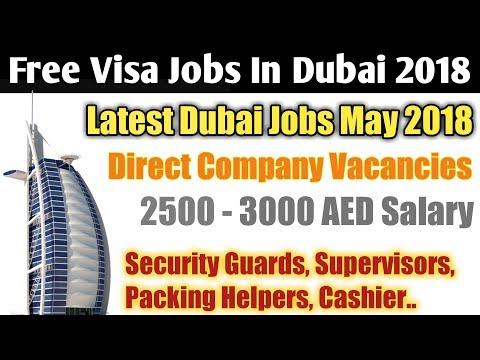 Free Dubai Jobs for Security Guards, Packing Helpers, Supervisor, Cashier   Dubai Jobs 2018