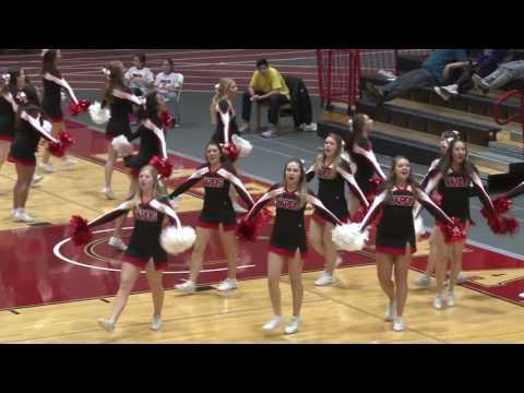 NCC Cheerleaders 2017 - Jan 18 cheer routine North Central College