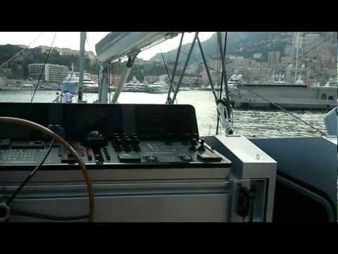 Entering Monaco port Hercule on a super sailing yacht