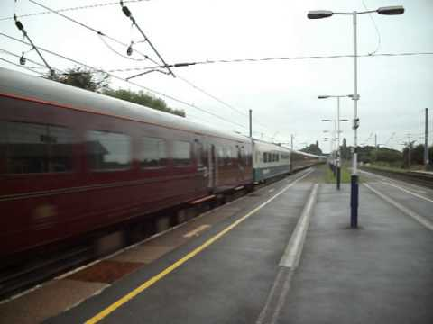 DB Schenker 67005 and 67006 passing Leyland on the Cruise Saver train 21st September 2010