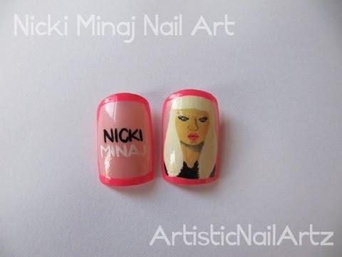 Nicki Minaj Nail Art! - YouTube