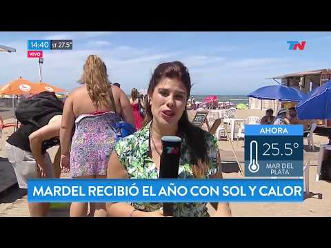 Mar del Plata recibió el año con sol y calor