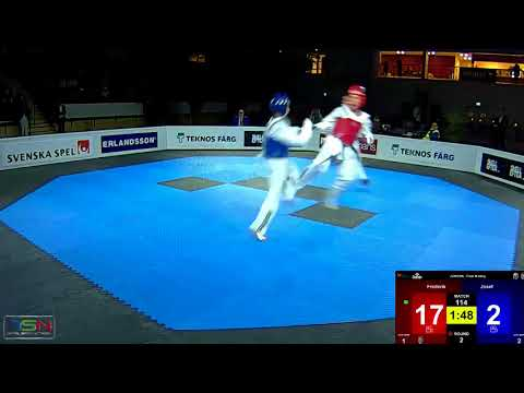 114  Josef Alami, Wermdo TKD vs  Frederik Emil Olsen, Soo Shim TKD Klubb 4 30