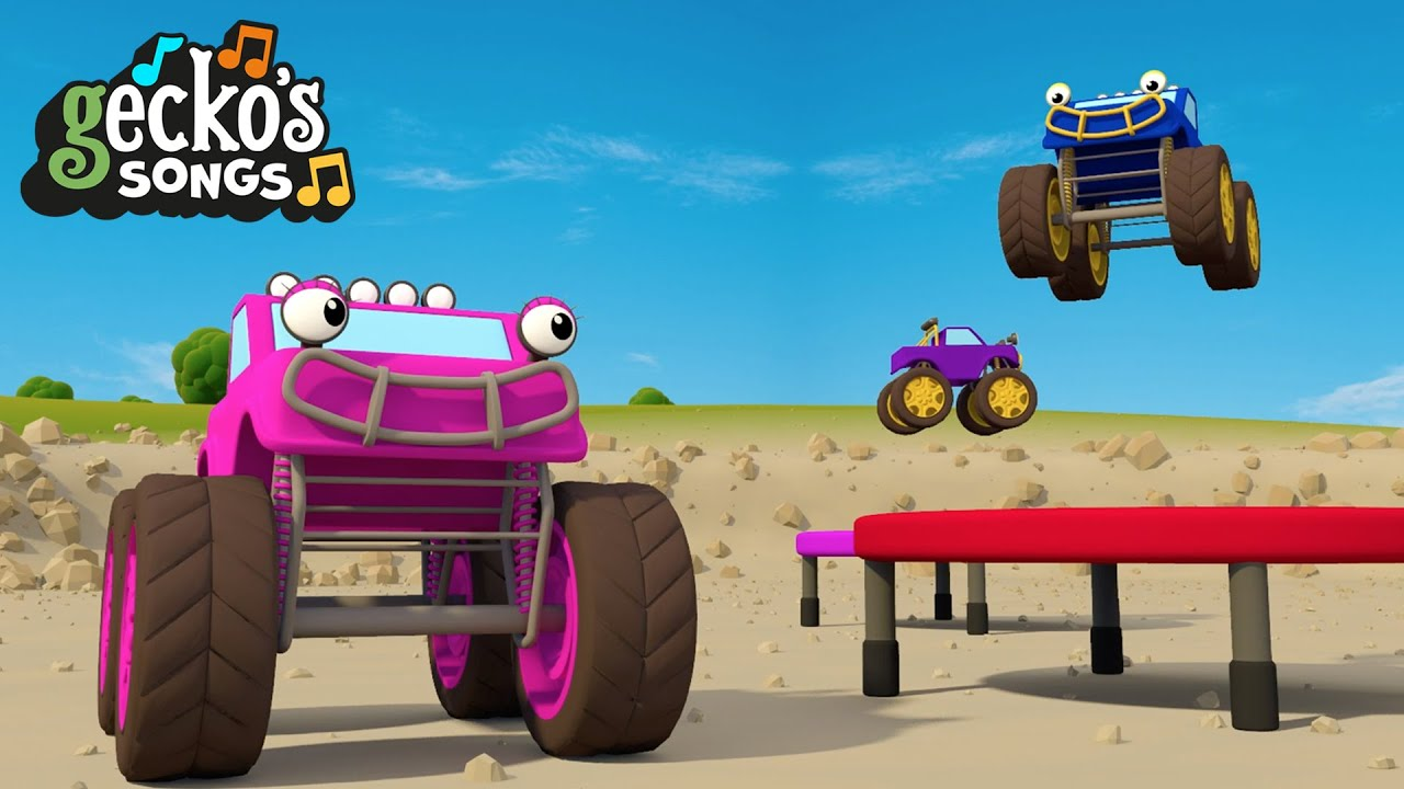 Monster Truck MADNESS | Nursery Rhymes & Kids Songs | Gecko's Garage | Trucks For Toddlers
