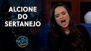 Cantora sertaneja fez imitação fantástica de Alcione | The Noite (21/07/21)