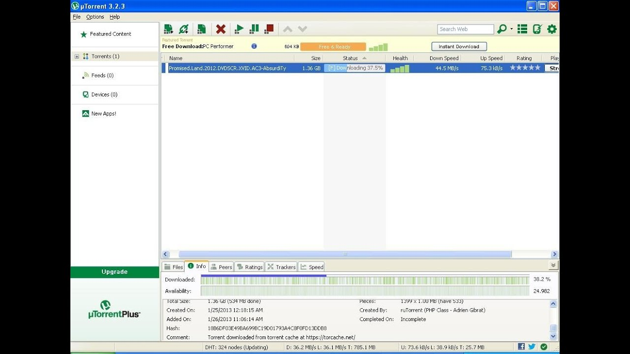 Increase uTorrent Download speed using cheat engine - YouTube