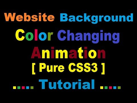 How To Make Auto Change Website Background Using HTML & CSS.( PURE CSS3 )