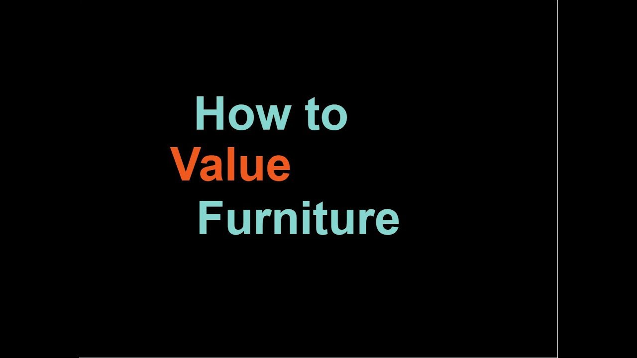 How to Value Antique Furniture - How To Value Antique Furniture - YouTube