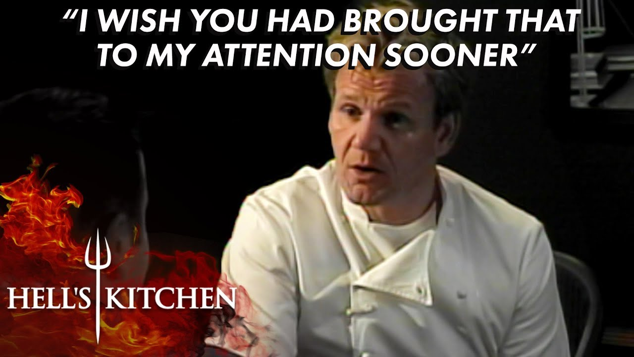 Chef Robert Has An Emotional Chat With Gordon Ramsay Hell S Kitchen