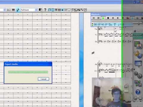 How to export audio in Sibelius