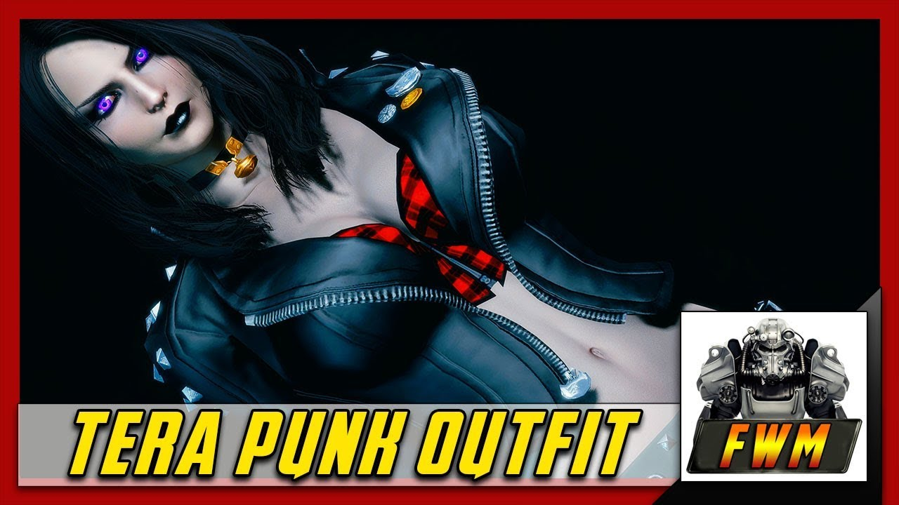 Fallout 4 Clothing Mods Tera Punk Outfit CBBE