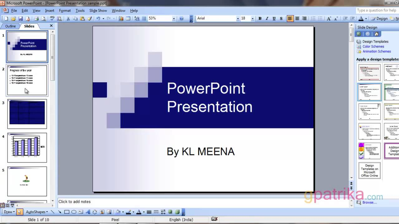 how to make presentation animation