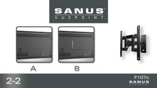 how to install your sanus vuepoint f107c tv mount