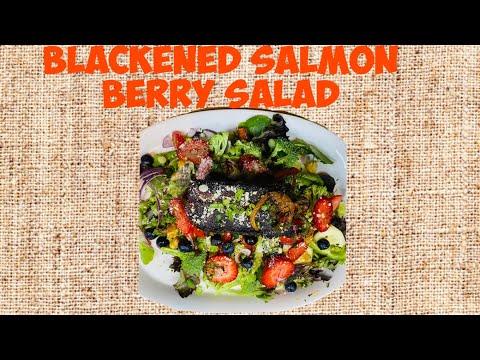 Blackened Salmon Berry Salad