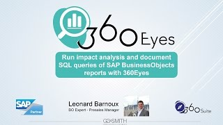 Run impact analysis and document SQL queries of SAP BusinessObjects reports with 360Eyes
