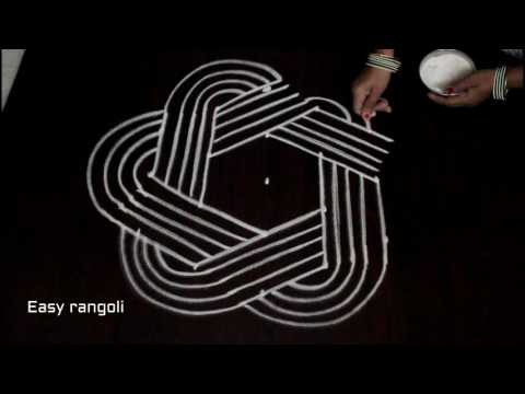 dhanurmasam sankranti muggulu with 5 to 3 interlaced dots || pongal kolam designs || easy rangoli