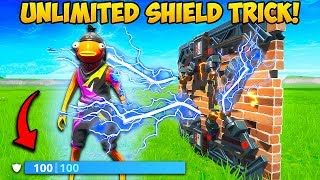*NEW TRICK* GET UNLIMITED SHIELDS WITH ZAPPER TRAPS!! – Fortnite Funny Fails and WTF Moments! #673