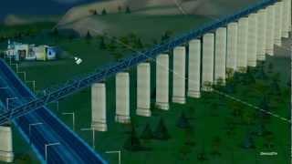 Sim City 5 (2013) : Mega Railway Bridge
