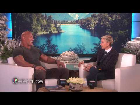 DWAYNE The ROCK JOHNSON On ELLEN SHOW FULL INTERVIEW TALKING About HIS ADORABLE WORKOUT BODY_VIDEO_