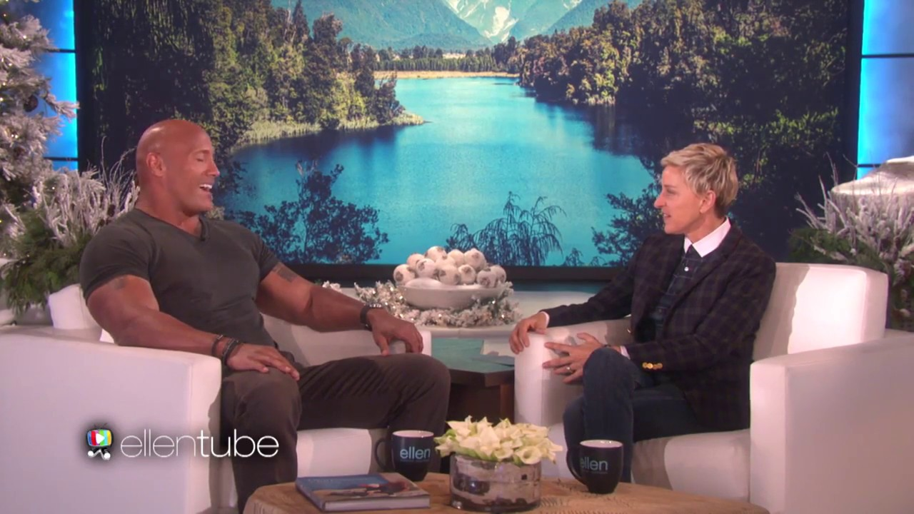 Dwayne The Rock Johnson On Ellen Show Full Interview Talking About His Adorable Workout Body Video