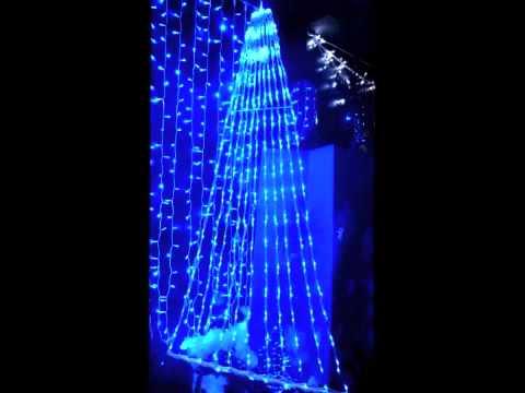 iluminacin de navidad cascada navidad led azul de illuminacom