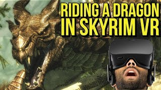 Riding a DRAGON in Skyrim VR | PS4 and PC | PSVR, Oculus Rift, Vive