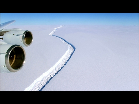 Delaware Sized Iceberg Poised to Break Off Antarctic Shelf