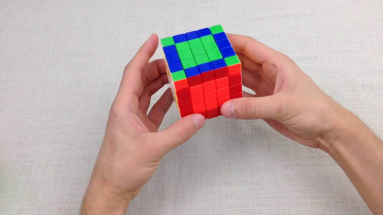 сложить кубик схема
