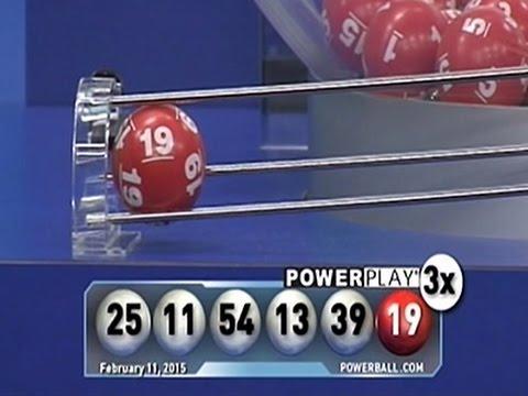 Raw: Powerball Numbers Drawn
