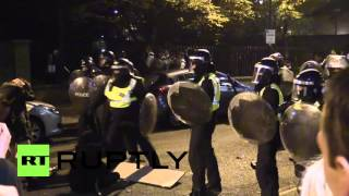 UK: Halloween ravers clash with riot police after illegal party