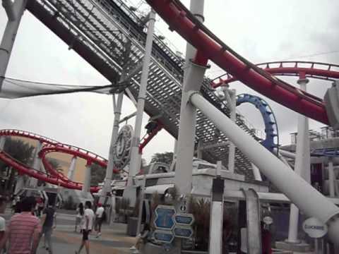 Battlestar Galactica roller coaster at Universal Studios, Singapore (1)