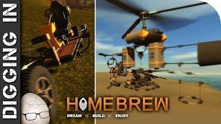 """Homebrew Vehicle Sandbox Steam v13 Review """"Failing Beautifully. Breakdancing and Crashing"""""""