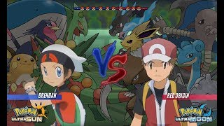 Pokemon Battle USUM: Brendan Vs Red Pokemon Origins (Pokemon Wifi Battle)