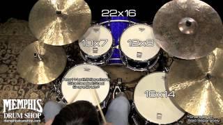 Pearl Masters MCX Maple Drum Set 22/10/12/16 - Navy Blue Sparkle