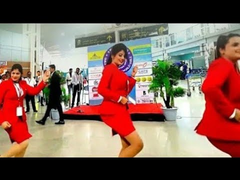 Beautiful Air Hostess dance in airport must watch !