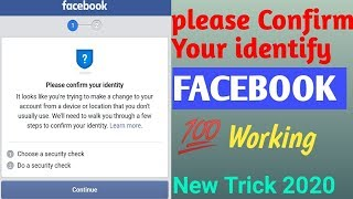 Please Conform your Identify 2020 |  100% Working | Facebook Temporary Lock | தமிழில் | TECH2TAMIL