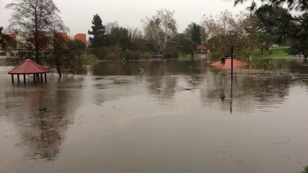 Polliwog Park Flood 2017 - YouTube