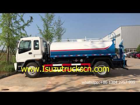Philippines 12000L water 190hp Isuzu 12cbm water tank truck