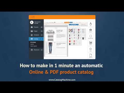 How to make an automatic Online & PDF product catalog  in 1 minute