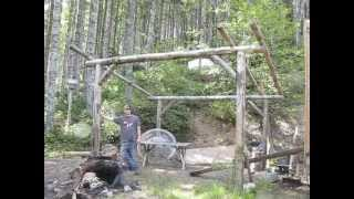Building Off Grid Small Cabin - Walls Up