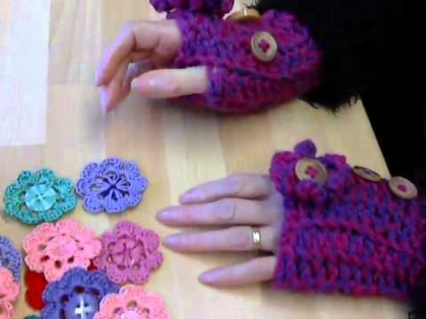 Crochet Button Flowers And My Embroidery Thread Storage Youtube